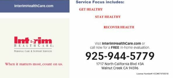 Interim HealthCare Flyer Image in Walnut Creek California