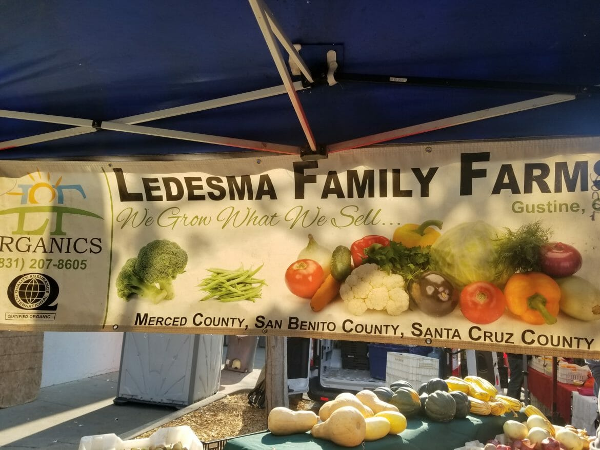 Ledesma Family Farms Booth at Walnut Creek Famers' Market