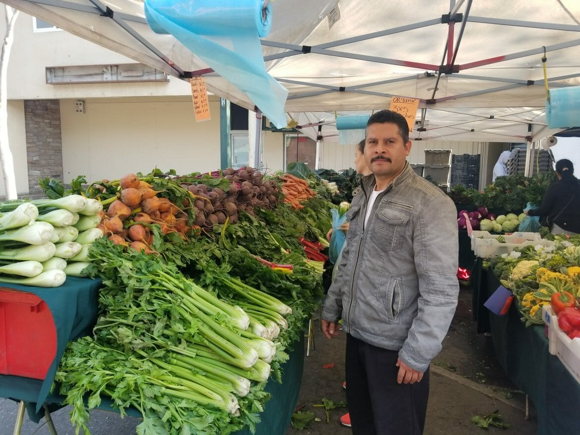 Image of man at Walnut Creek Farmers' Market