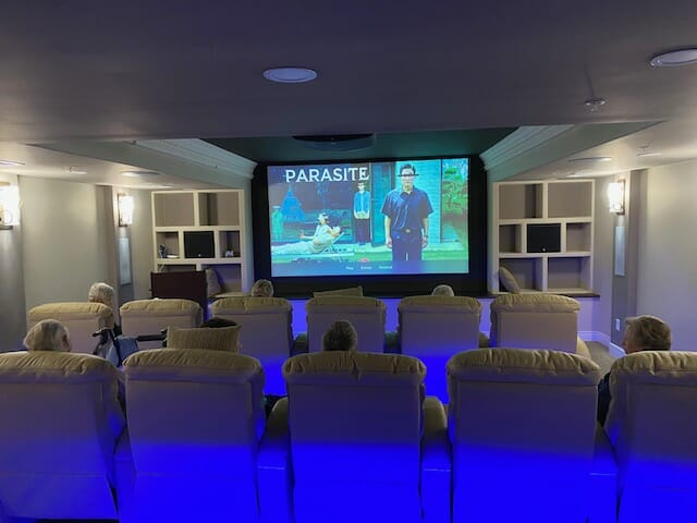 Movie Night in the new Downtown Cinema at The Heritage Downtown