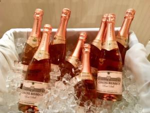 Rose Champagne on Ice at The Heritage Downtown for Valentines Day
