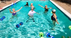 Vitality and Wellness Program in the pool with residents at The Heritage Downtown